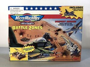 Vintage 1998 Galoob Micro Machines Military Battle Zones Dogfight Airbase ~New!