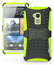 Green Heavy Duty Strong Tradesman Hard TPU Case Cover Stand for HTC One Max