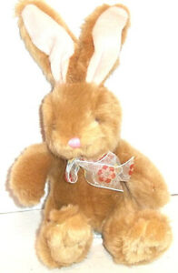 """Russ VALERIE THE EASTER BUNNY Rabbit Plush Avon Exclusive Very Soft 11"""" Tall"""