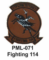 FIGHTING 114  Embroidered Military Large Patch, 4 ''-new