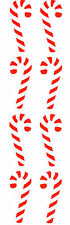 Mrs. Grossman's Stickers - Candy Cane - Red & White Striped Candy - 4 Strips