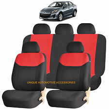 RED ELEGANT AIRBAG COMPATIBLE SEAT COVER SET for MAZDA 3 5 CX7