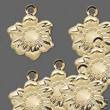 Sunflower Charm Gold Flower Jewelry Scrapbook Lot of 10
