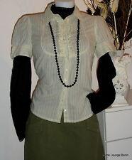 NOA NOA NUEVO blusa Hazel a Rayas L/40 BLUSA RAYAS VOLANTES Emerald Beige