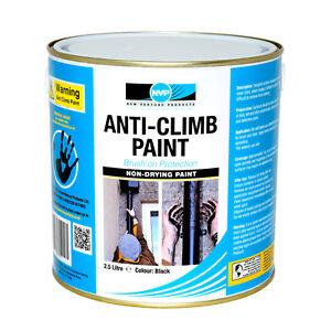 Anti Climb Paint (Anti Vandal)  2.5 litre (2.9kg) Black, Red, Grey or Green