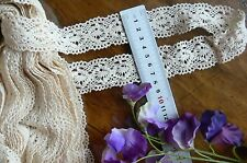 Cluny Cotton Lace CREAM - 35mm wide 3 Metre Lengths - Insert ft260 Sunrise