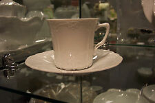 Hutschenreuther Baronesse White Coffee Cup & Saucer(s), new Rosenthal
