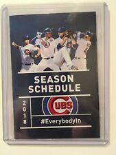 MLB 2018 CHICAGO CUBS  POCKET SCHEDULE 2016 WORLD CHAMPIONS - BUDWEISER - NEW