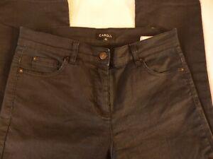 Pantalon droit Léger bleu marine CAROLL T40
