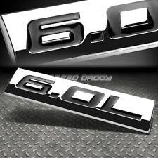 METAL EMBLEM CAR BUMPER TRUNK FENDER DECAL LOGO BADGE CHROME BLACK 6.0L 6.0 L