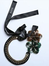Élégant collier fleurs MARNI -- NEUF avec dustbag