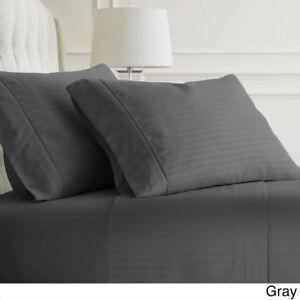 All US Sizes New Bedding Items Elephant Grey Stripe 1000 TC Egyptian Cotton