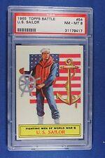 1965 Topps Battle Cards - #54 U.S. Sailor - PSA NM/Mt 8