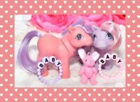 ❤️My Little Pony MLP G1 Vintage 1984 Pink & Purple Baby Ember Mail Order Lot❤️