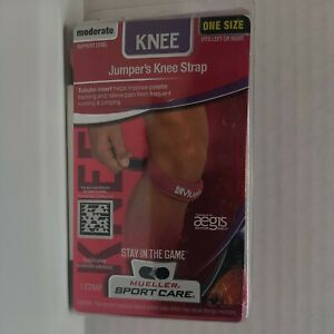MUELLER SPORT CARE JUMPER'S KNEE STRAP MODERATE SUPPORT ONE SIZE PINK