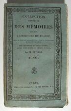 PETITOT MONMERQUÉ. Collection... des Mémoires relatifs à l'Histoire de France