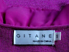 GITANE ShockingPinkSleevelessFrontZipFrilledVneck SzS as NEW