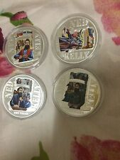 2015 niue ned kelly 4pc silver coin set with coa,no box