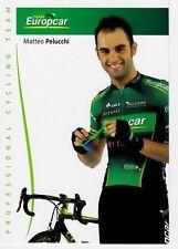 CYCLISME carte cycliste MATTEO PELUCCHI équipe EUROPCAR 2012