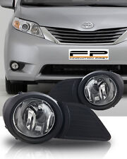 2011 2012 2013 2015 Toyota Sienna Clear Lens Fog Light Driving Lamp Complete Kit