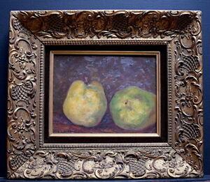 Naturaleza Muerta Pera Fruits Firmado Aubert Xx