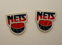2 Vintage 1990s New Jersey Nets Basketball NBA Team Logo Pin NOS New Brooklyn