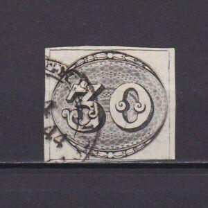 BRAZIL 1843, Sc# 1, CV $550, Bull's eye, Used