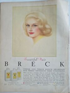 1958 Breck beautiful hair pretty blond shampoo vintage ad