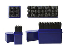 """1/4"""" 6 MM Capital Letter Punch Stamp Set Metal-Steel-Gold-Silver 36 Piece A-Z"""