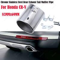 1Pcs 83x69mm For Honda CR-V Chrome Stainless Steel Exhaust Tail Muffler Tip Pipe