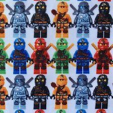 OFFCUT LEGO NINJAGO NINJA LLOYD ZANE KAI CHILDREN CHARACTER POLYCOTTON FABRIC