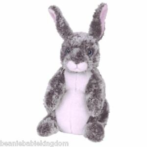 "Ty Buddy Buddie * HOPPER *  The Grey and White Bunny Rabbit 09438 13"""