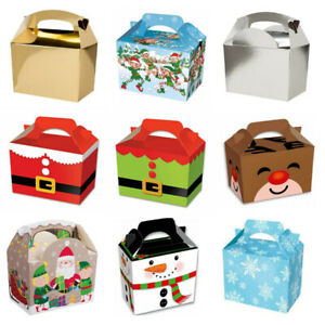 Christmas Eve Box Childrens Gift Present Party Kids Food Boxes Table Decoration