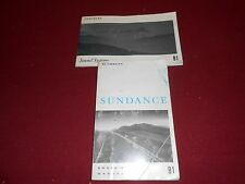 1991 PLYMOUTH SUNDANCE OWNER MANUAL and  SOUND SYSTEMS MANUAL