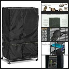 Machine Safe Ferret & Critter Nation Privacy Cage Cover Accessories Pets Black