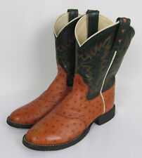 Old West Western ankle boots leather two tone Womens Size 7