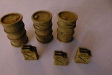 JG Miniatures Diorama Zubehör Ölfässer und Kanister,M13B, 1/32, Desert Fuel Dump