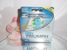 Oral-B Triumph Floss Action Replacement Brush Heads Toothbrush Refills 3 Pack