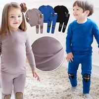 "Vaenait Baby Toddler Kids Girls Boys Clothes Pajama Set ""Maple patch Set"" 12M-7T"
