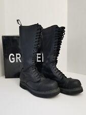 Grinders King steel-toe Ranger Boots 20-eye Size US 8/UK 7 Dr. Martens