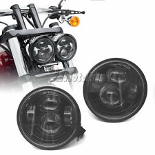 "4.65"" Black LED Motorcycle Daymaker Headlights For Harley Fat Bob FXDF 2008-2015"