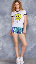 Black Milk BMC Makes Me Happy Tee T'Shirt Sample Size S Melting Smiley Face