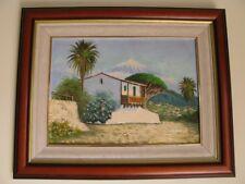 Peinture a l'huile Peintre contemporain Salazar. Encadré, signé.