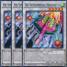 BOSH-EN049 3x HI-SPEEDROID HAGOITA (ALTA-VELOCIROID HAGOITA) Rare Yugioh