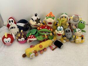 Super Mario Bros Plush Toy Bundle X16 - Bowser, Captain Toad, Yoshi Plus More