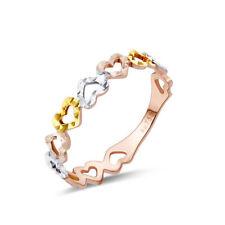 Multi-Tone Gold Fine Rings