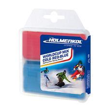 Holmenkol Wc Mix Cold Red-Blue Ski Snowboard Wax 2x35g Tuning