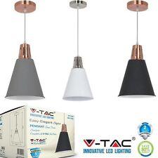 LAMPADARIO PENDENTE A SOSPENSIONE E27 METALLO NERO/GRIGIO/BIANCO V TAC VT-7520