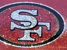 "1 San Francisco 49ers ""Glitter - Bling"" Metal Vehicle License Plate Frame"
