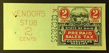 Ohio State Revenue 2 cents Sales Tax Entire, Merrick Lithograph Co. #K-CEC-28255